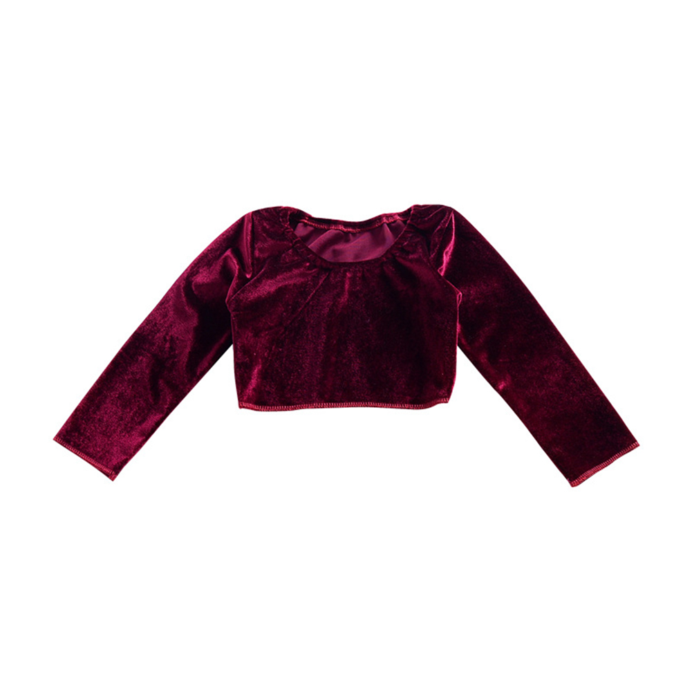 Kids Baby Unisex Long Sleeve Short Section T-Shirt Soft Warm All-match Round Neck Purple Blouse for Spring Autumn