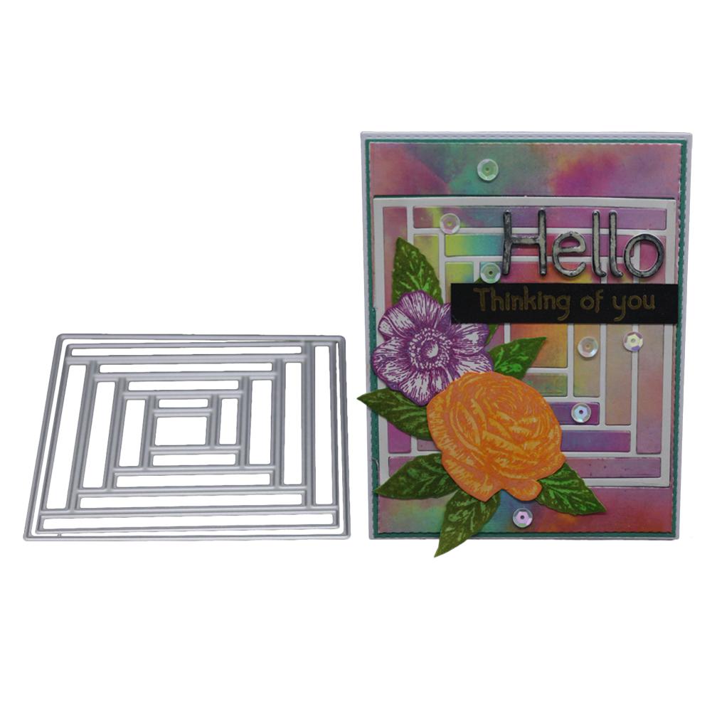 2018 Dies Labyrinth Frame Craft Die for Scrapbooking Party DIY Decoration