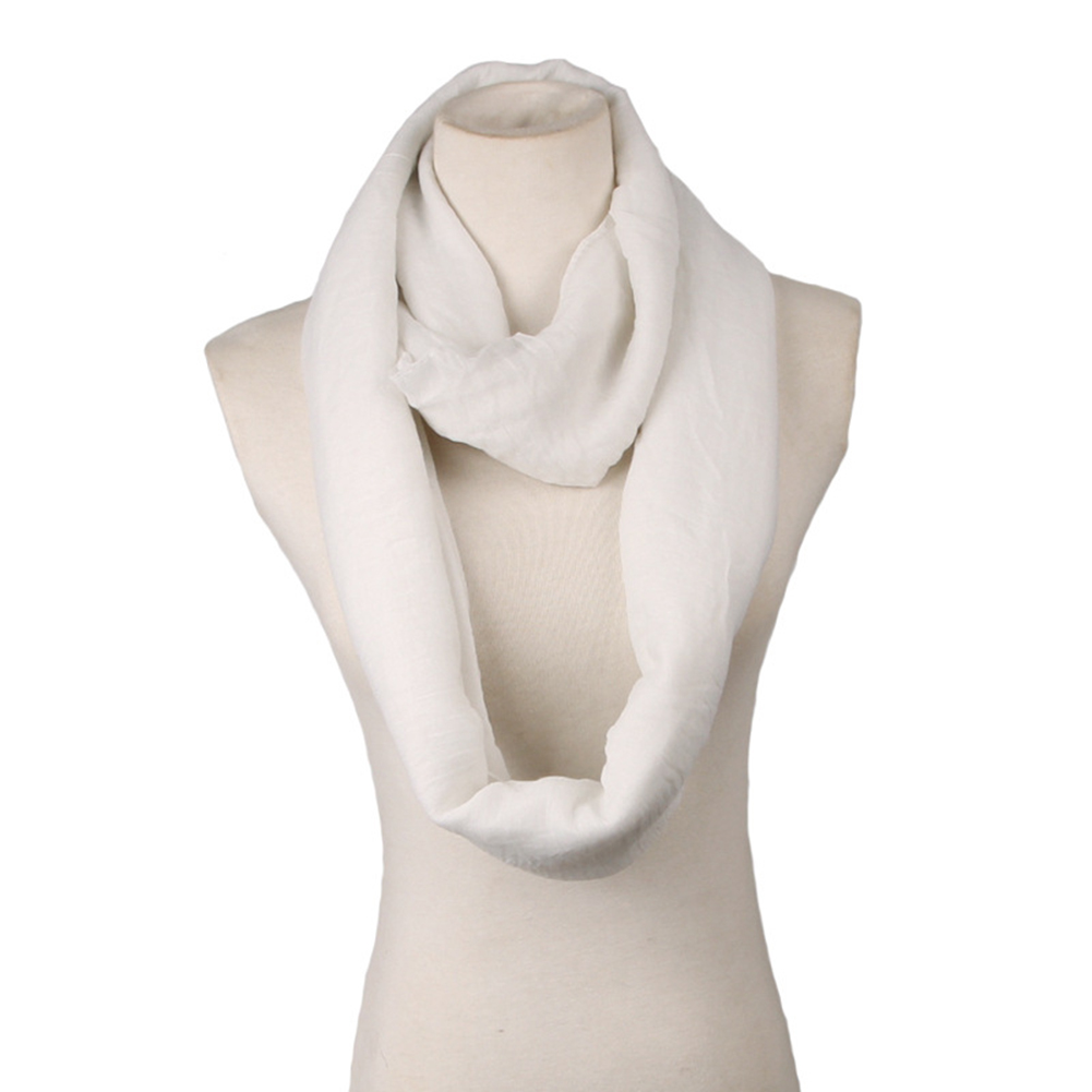 Winter Thick Soft Fabric Knit Loop Circle Scarf for Women