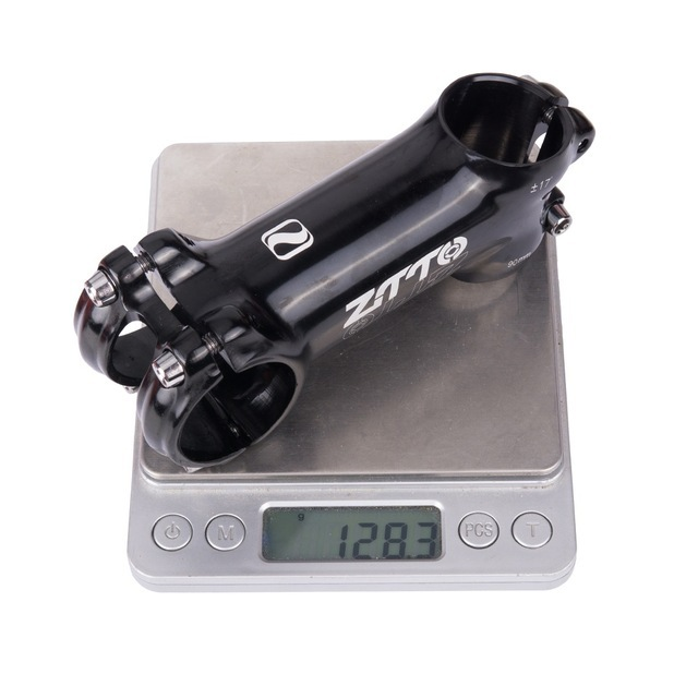 ZTTO Mountain Bike Road Bike Riser Handle Vertical Angle Large Angle Plus Or Minus 17 Degree Angle Handle Faucet 90MM black