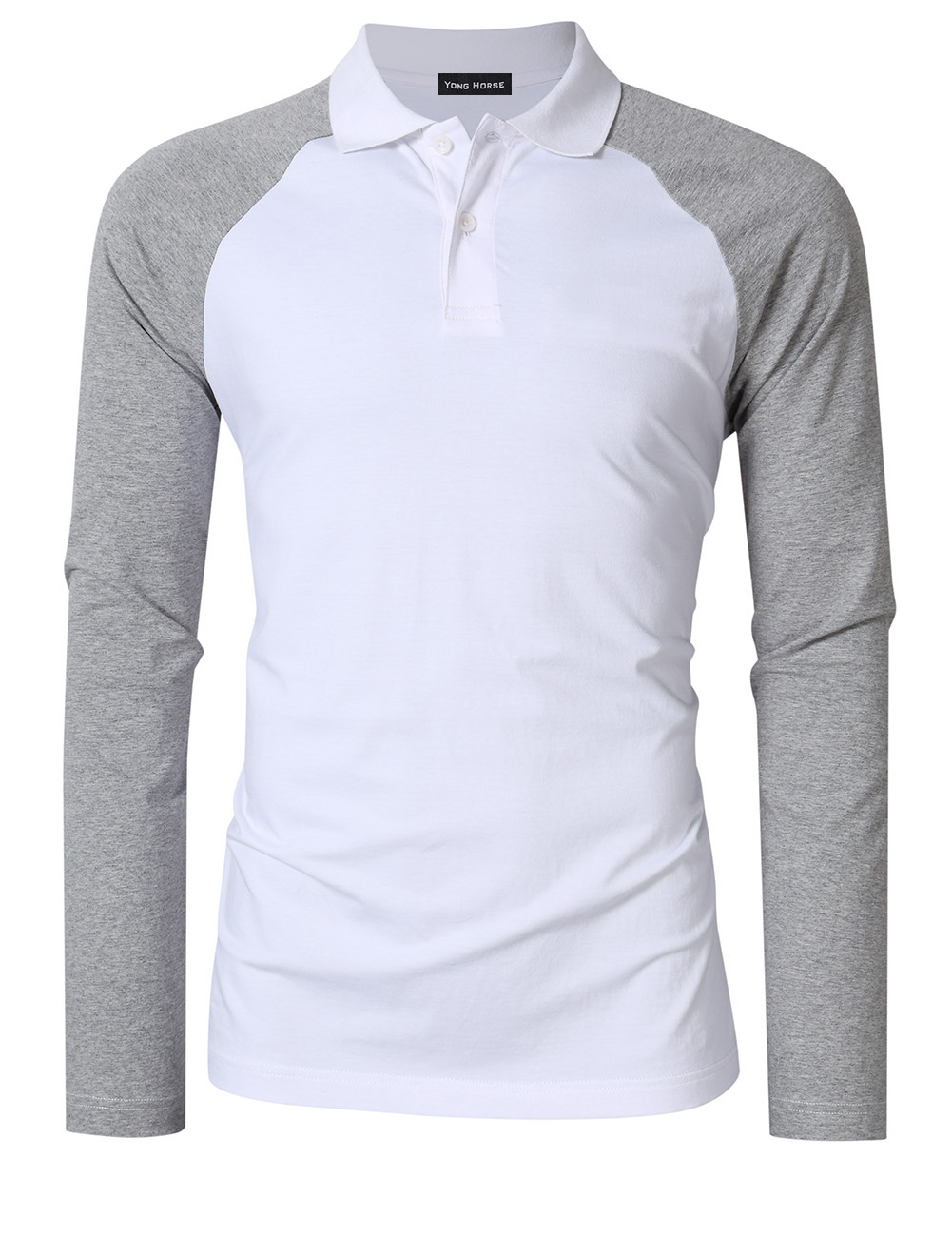 Men's Two Tone Color Blocked Polo Shirt