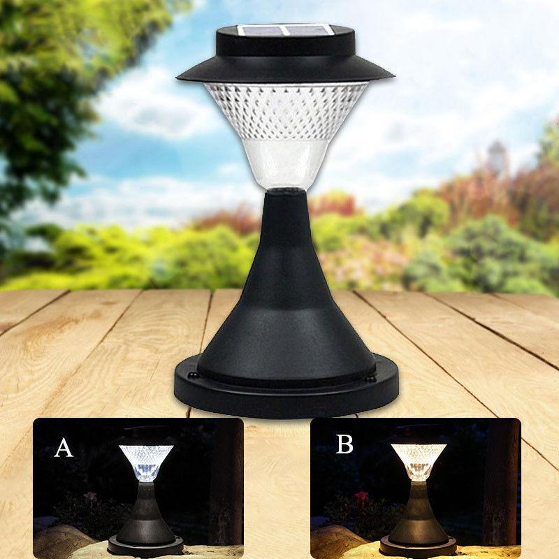 16 LED Outdoor Garden Path Landscape Fence Yard Pillar Lamp Solar Powered LED Light Warm lightWhite light