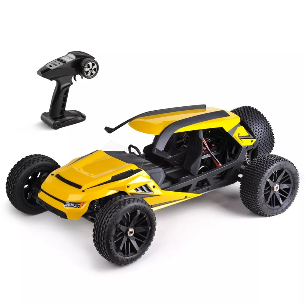 HBX T6 1/6 2.4G 70km/h High Speed Brushless Desert Buggy RC Car yellow