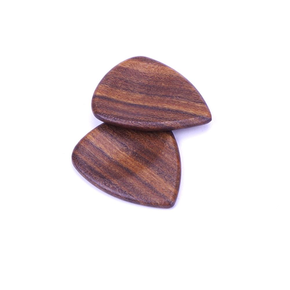 Wood Acoustic Guitar Pick Plectrum Hearted Shape Picks  Wooden
