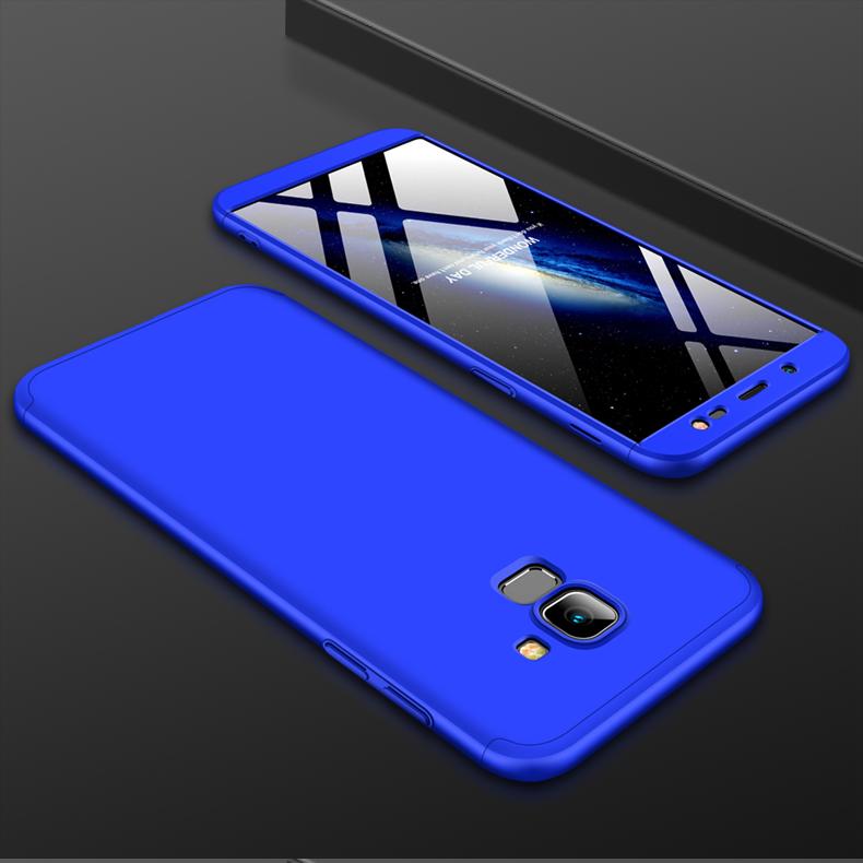 For Samsung J6 2018/on 6 Ultra Slim 360 Degree Non-slip Shockproof Full Protective Case blue