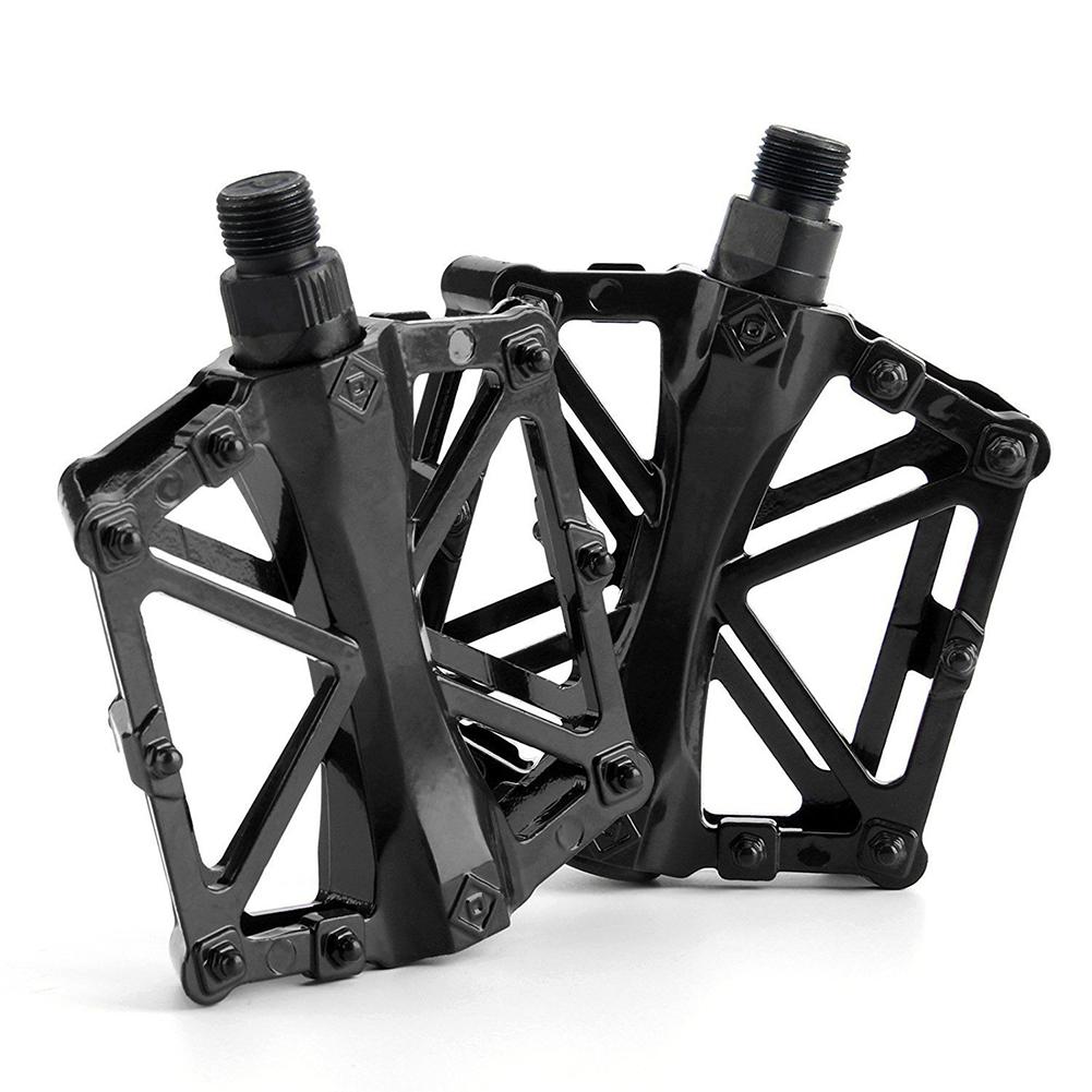 Pair Ultra-light Non-slip Aluminum Alloy Bicycle Mountain Bike Pedal black