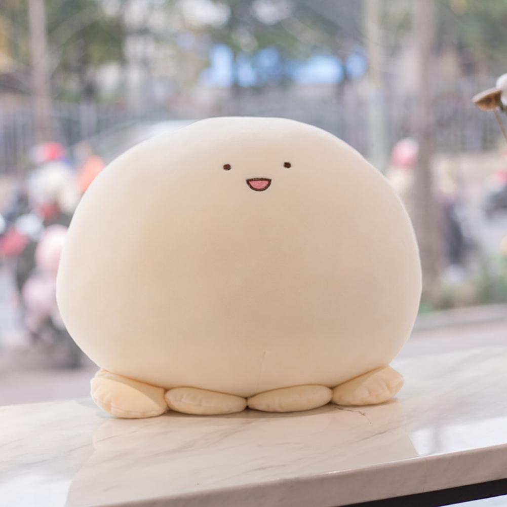 40CM Cute Plush Toy Stuffed Animal Shape Toy for Kids Girls Sleeping Throw Pillow white