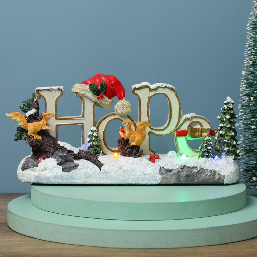 Christmas  Ornaments Luminous Letter Ornaments Led Colorful Lights Resin Crafts Luminous letter C