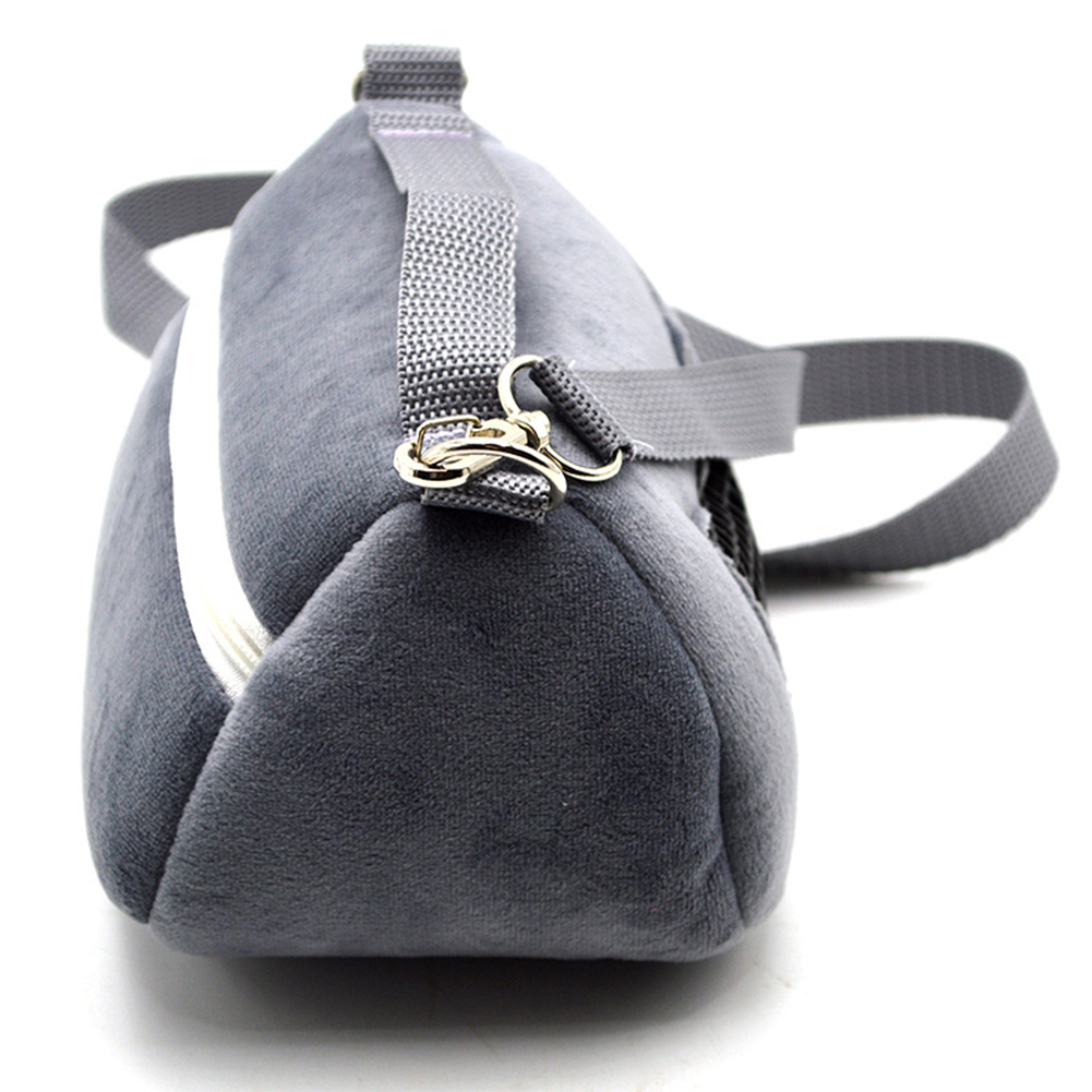 Portable Shoulder Bag for Outdoor Small Pet Squirrel Hamster Guinea Pig gray_Large size (18*14*15cm)