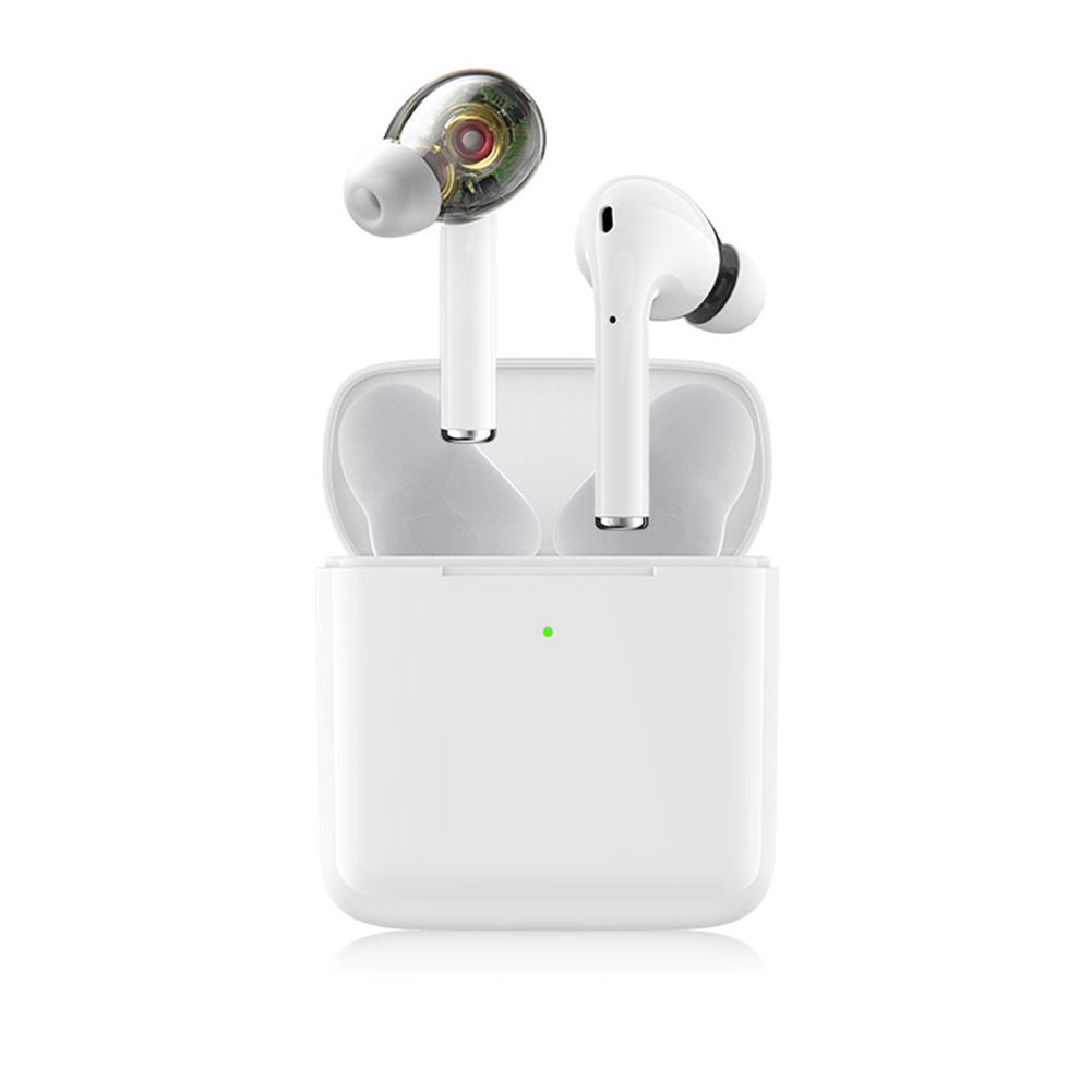 True Wireless Bluetooth Headset Tws Binaural 5.0 In-ear Sports Noise Reduction Universal Earplugs white