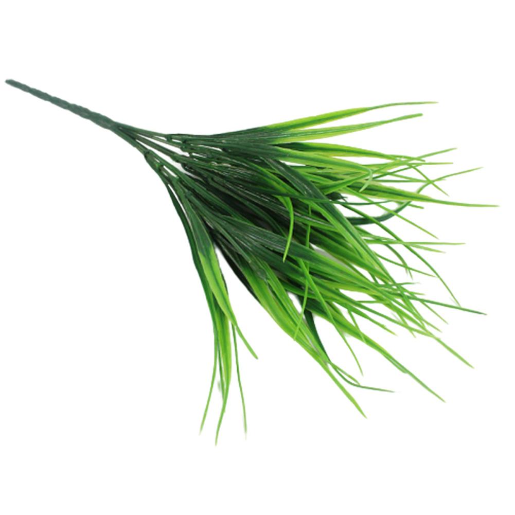 Simulation Grass 7 Bifurcation Small Spring Grass Plastic Flower Pot Partition Restaurant Seedling Plants Decoration 56 leaves