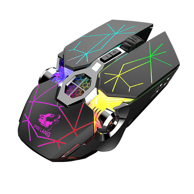 X13 Wireless Gaming Mouse 2.4G Bluetooth 5.0 2400DPI USB Rechargeable Mouse for Windows Computer PC Star black