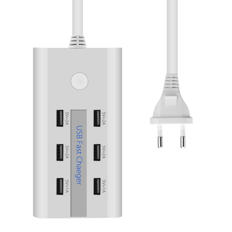 6 Port USB Wall Charger