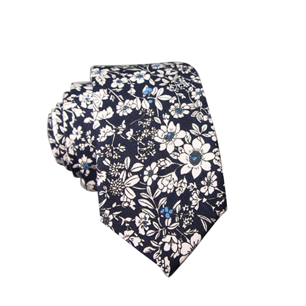 Men's Wedding Tie Floral Cotton Necktie Birthday Gifts for Man Wedding Party Business Cotton printing-009