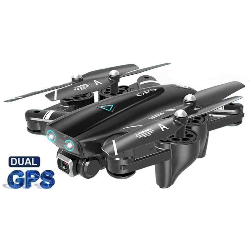 S167 GPS Drone With Camera 5G RC Quadcopter Drone 4K WIFI FPV Foldable Off-Point Flying Gesture Photos Video Helicopter Toy 2.4G 1080P 2 battery