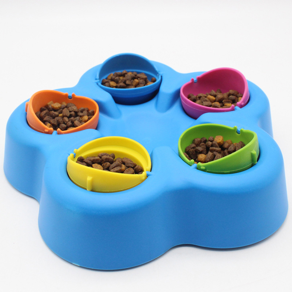 IQ Educational Slow Feeding Food Bowl Anti Choke Feeder Pet Dog Cat Puzzle Toy Random Color  Random Color