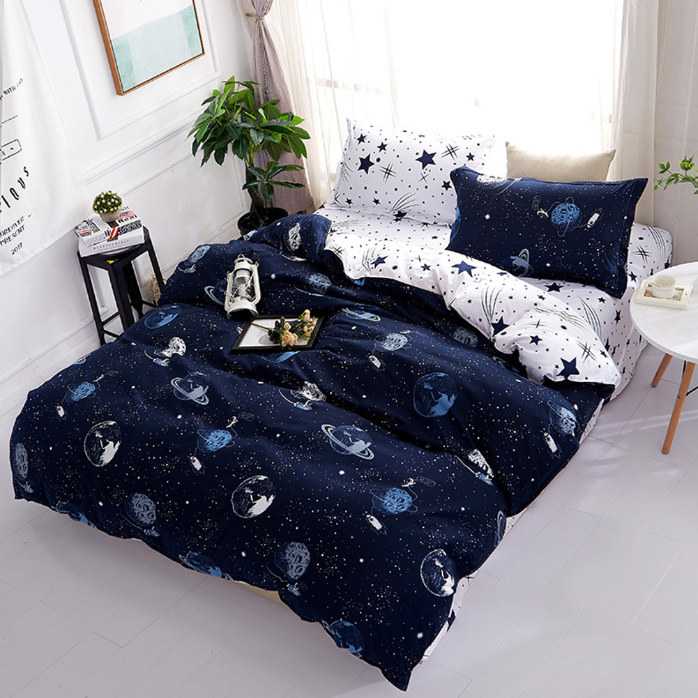 Fashion Double Sided Quilt Cover Pillow Cover Bed Sheet Bedding Set  Star Wars