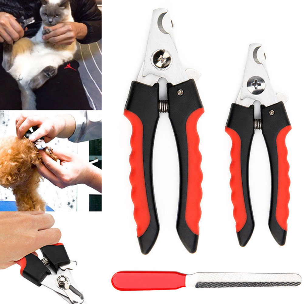 Stainless Steel Pet Nail Claw Clippers Trimmer Scissors Grooming Cutters for Pet Dog S