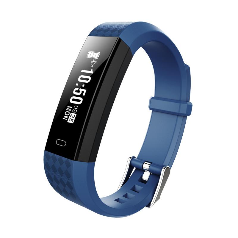 ZY68 Smart Bracelet Bluetooth IP67 Waterproof Heart Rate Sleep Monitoring Pedometer Fitness Tracker Sport Wristband blue