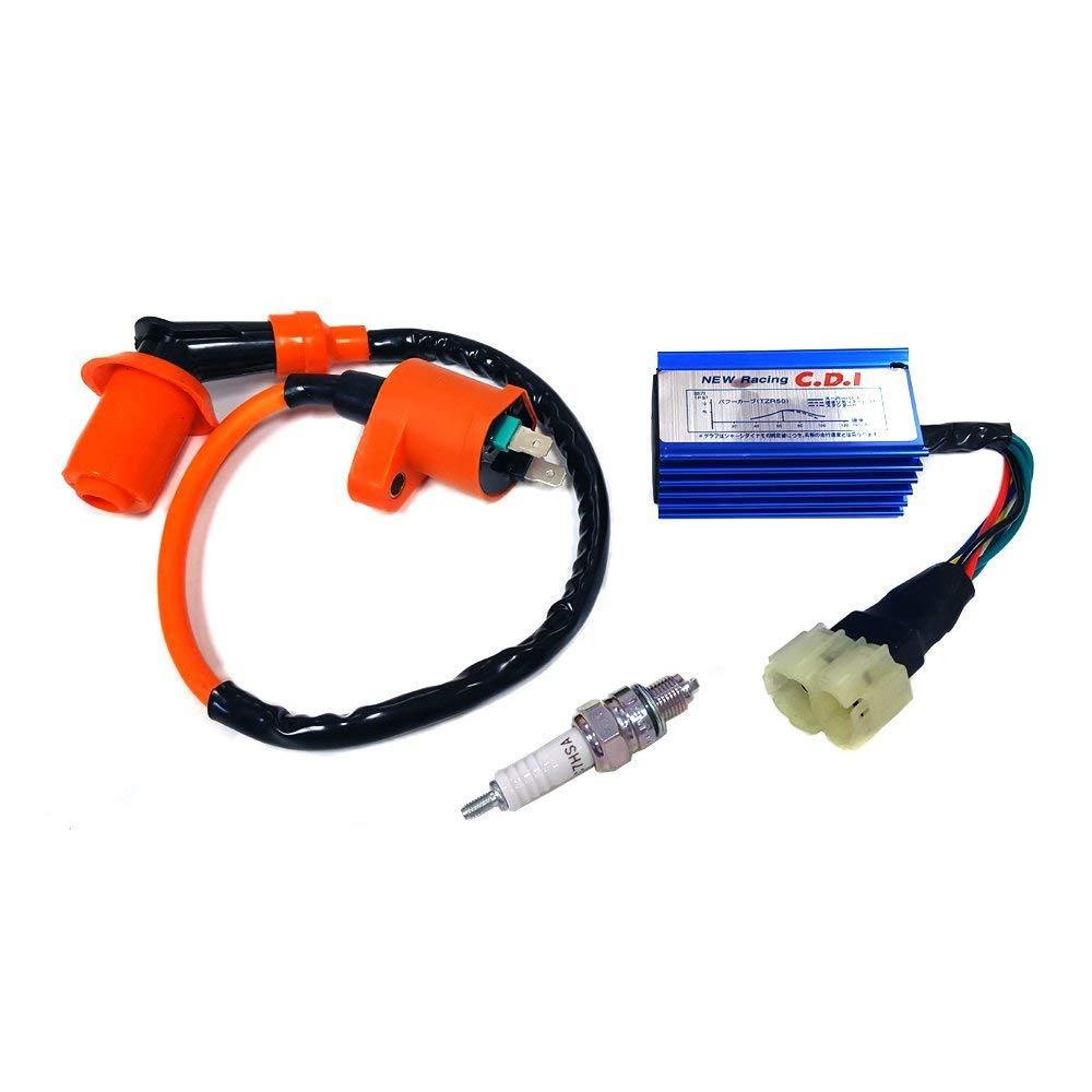 High Performance Racing Ignition Coil + Spark Plug & AC CDI for GY6 50/125/150cc Kit GY6  Ignition Coil set