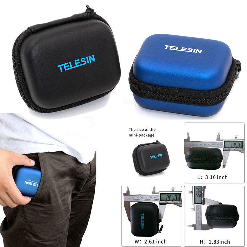 Mini Storage Case Box for GoPro Hero 6/5/4/3+ Session 5/4 Camera Accessories blue
