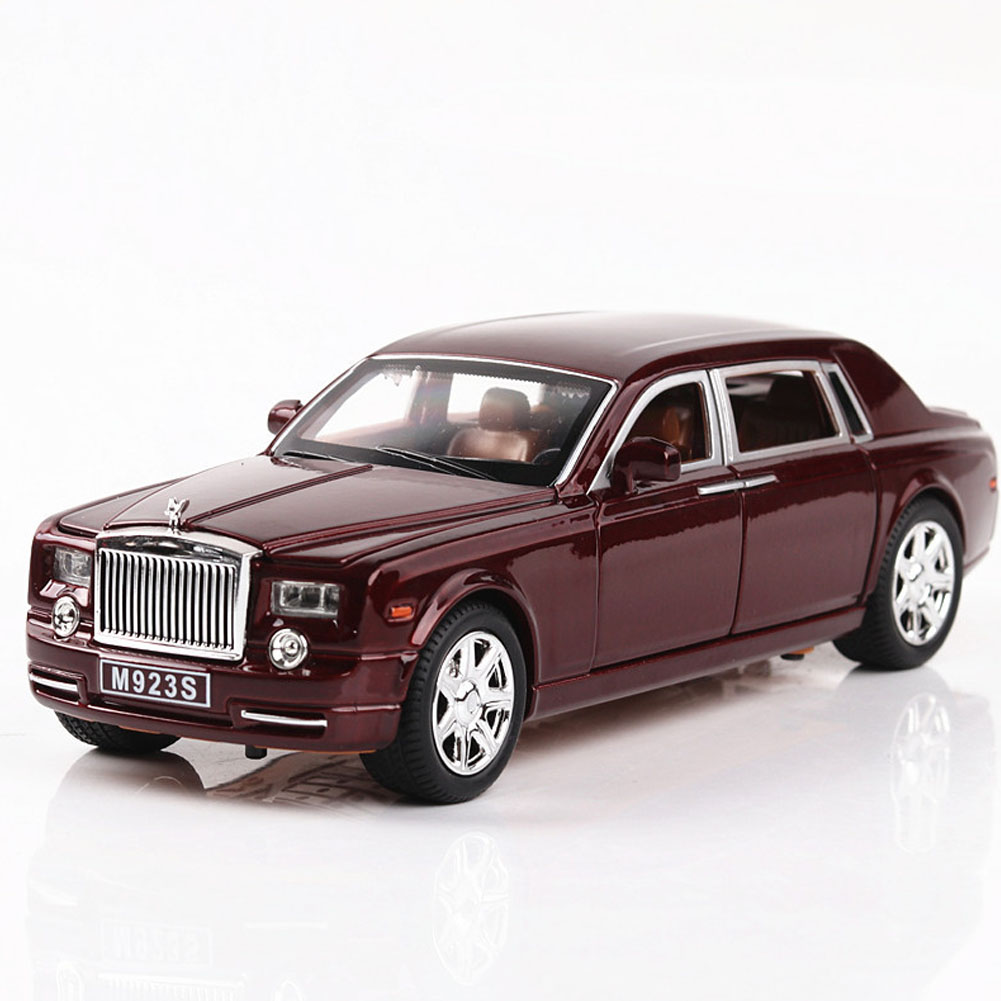1:24 Alloy Car Model Simulation SUV with Light Sound Pull Back Trunk Doors Open red