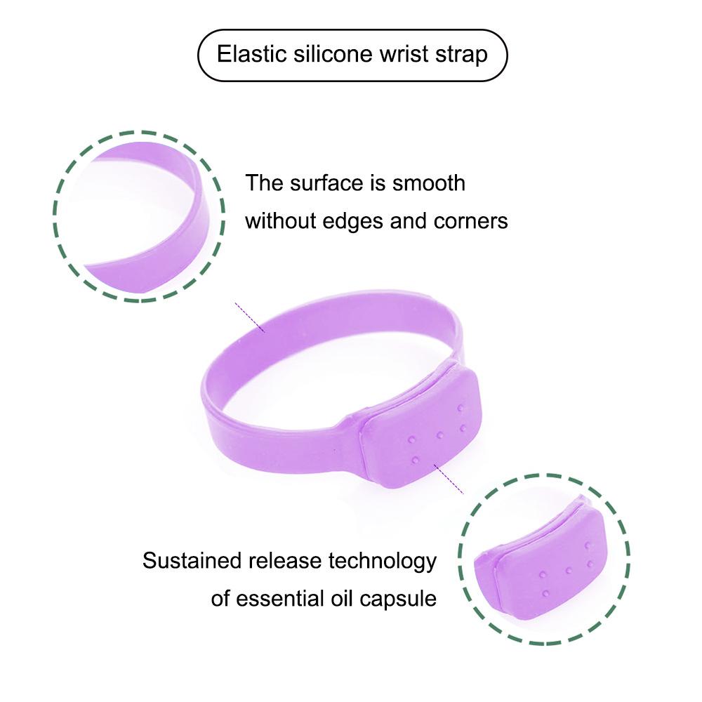 Disinfectant Sanitizer Dispenser Bracelet Sanitizer Bracelet Wristband Hand Sanitizer Dispensing Silicone Bracelet Bracelet purple