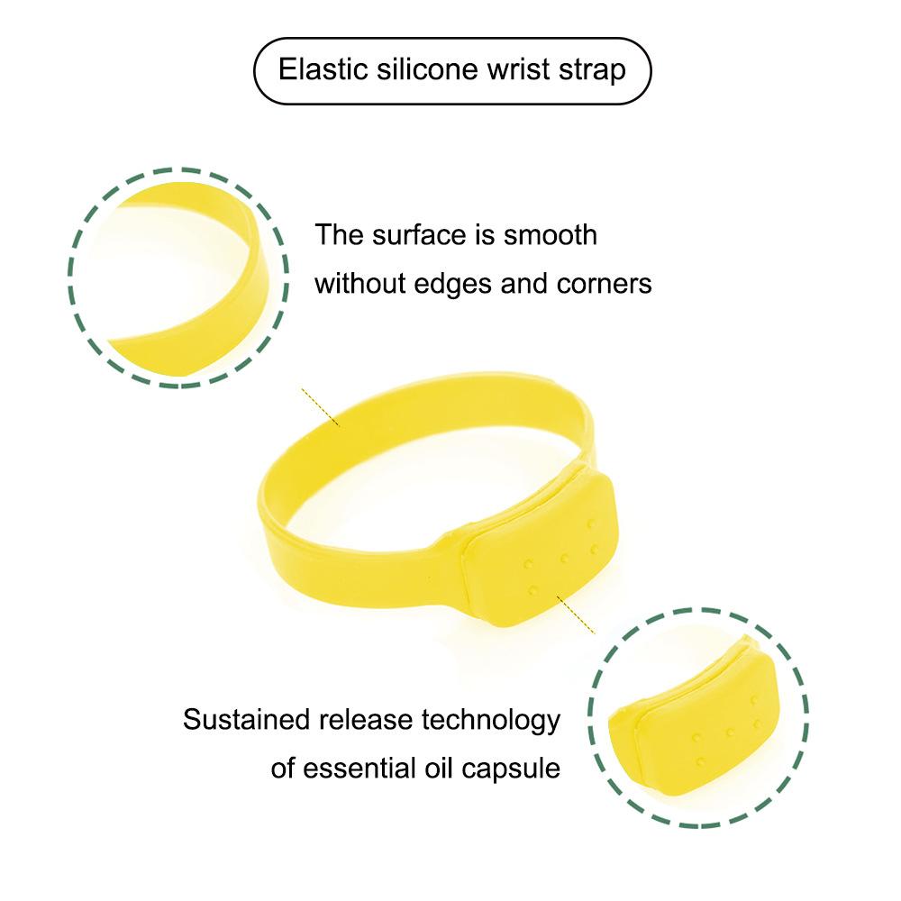 Disinfectant Sanitizer Dispenser Bracelet Sanitizer Bracelet Wristband Hand Sanitizer Dispensing Silicone Bracelet Bracelet yellow