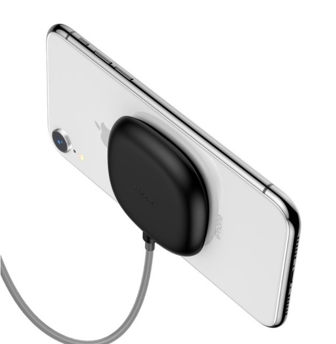 Spider Suction Cup Wireless Charger For iPhone 8/X Portable Fast Wireless Charging Pad black