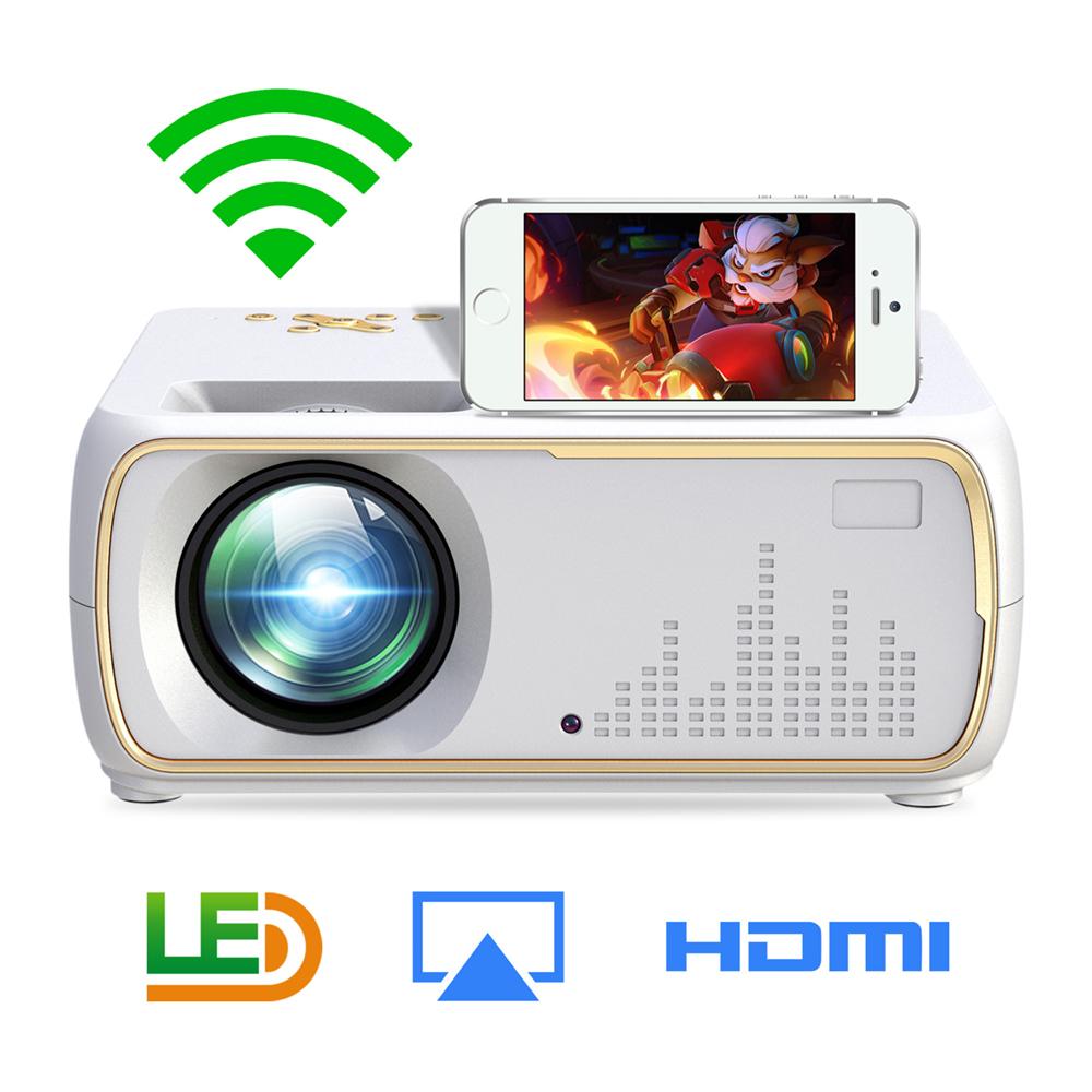 A20 Mini Projector HD 1080P TV Projector Home Cinema Projector  Same screen white EU plug