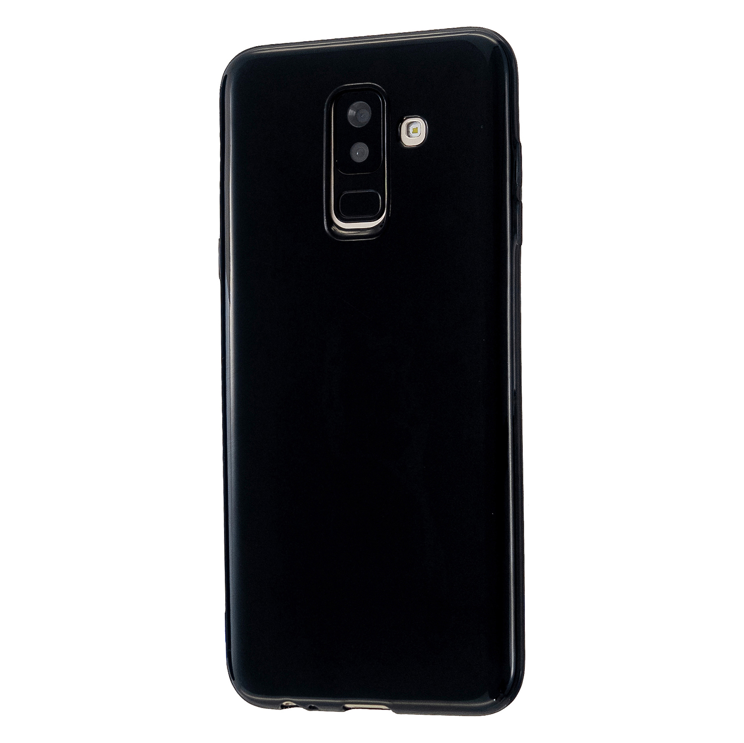 For Samsung A6/A6 Plus 2018 Smartphone Case Soft TPU Precise Cutouts Full Body Protection Mobile Phone Shell Bright black