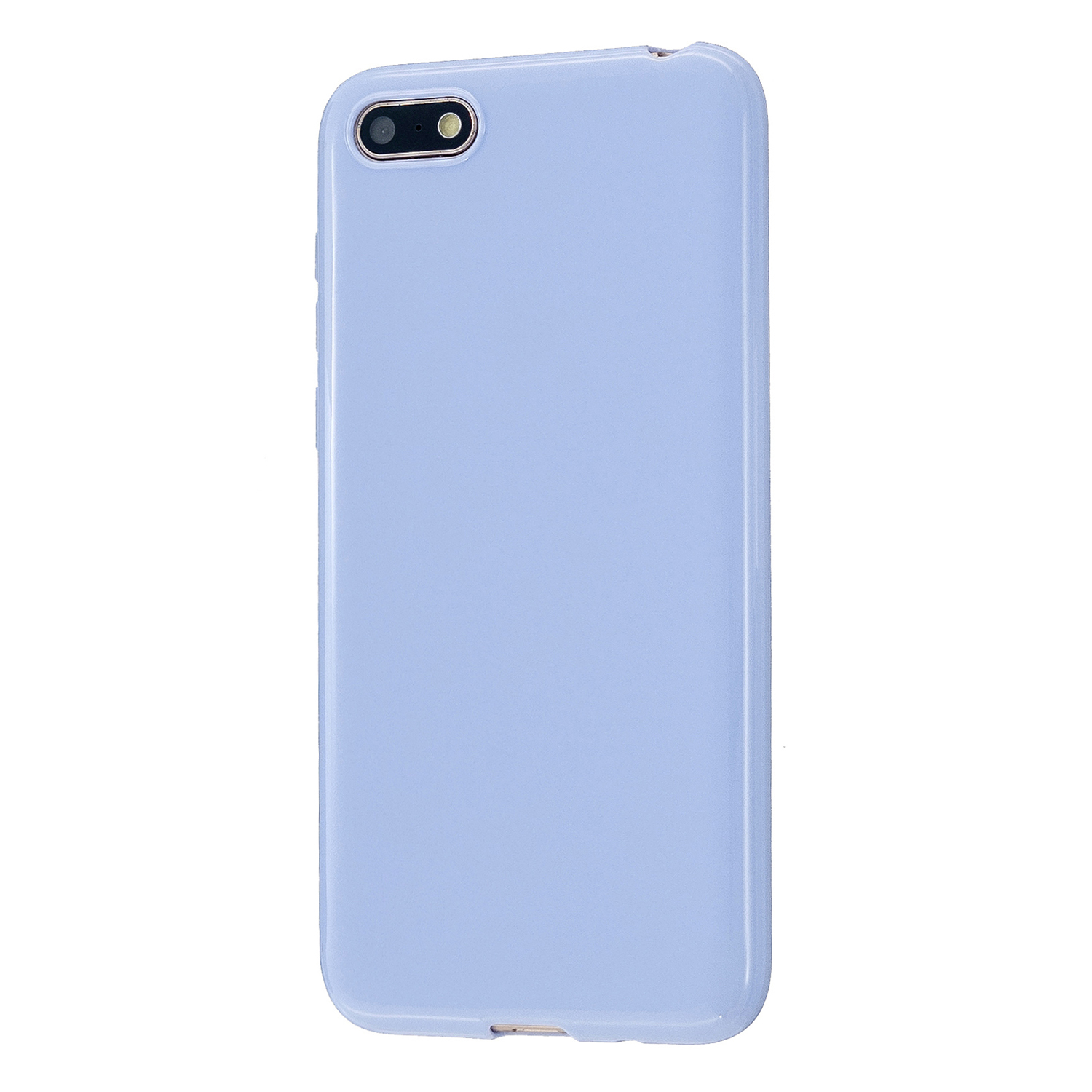 For HUAWEI Y5 2018/2019 TPU Phone Case Simple Profile Delicate Finish Cellphone Cover Full Body Protection Taro purple