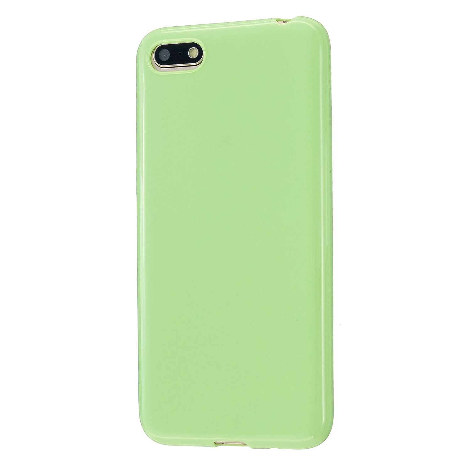 For HUAWEI Y5 2018/2019 TPU Phone Case Simple Profile Delicate Finish Cellphone Cover Full Body Protection Fluorescent green