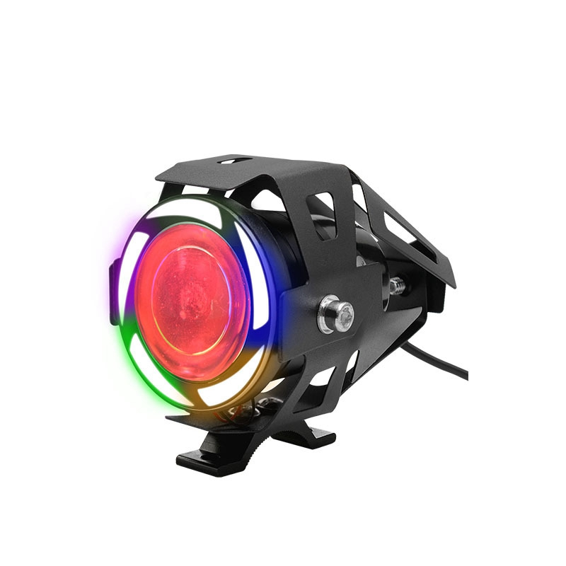 Motorcycle Modified Waterproof High Bright Colored LED Exterior Angel Devil Eye Spotlight Color upgrade