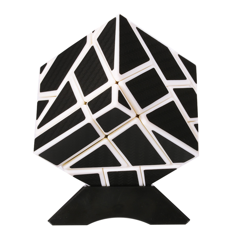 [EU Direct] Emorefun Qin Speed Soomth Carbon Fiber 3x3 Puzzle Cube White&Black