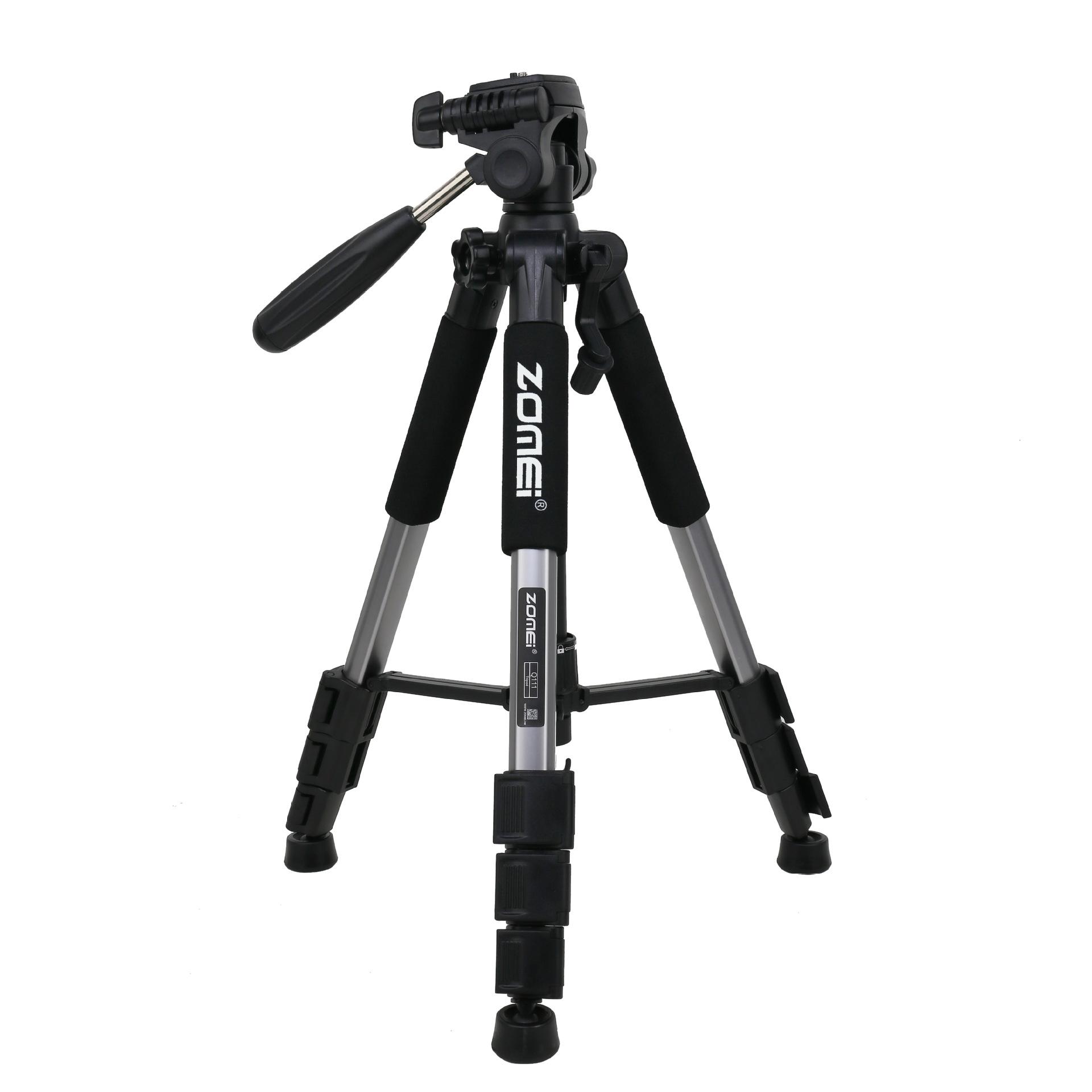 Mobile Phone Bracket Pro Aluminium Q111 Tripod for DSLR Camera Video Fill-in Light Bracket silver gray