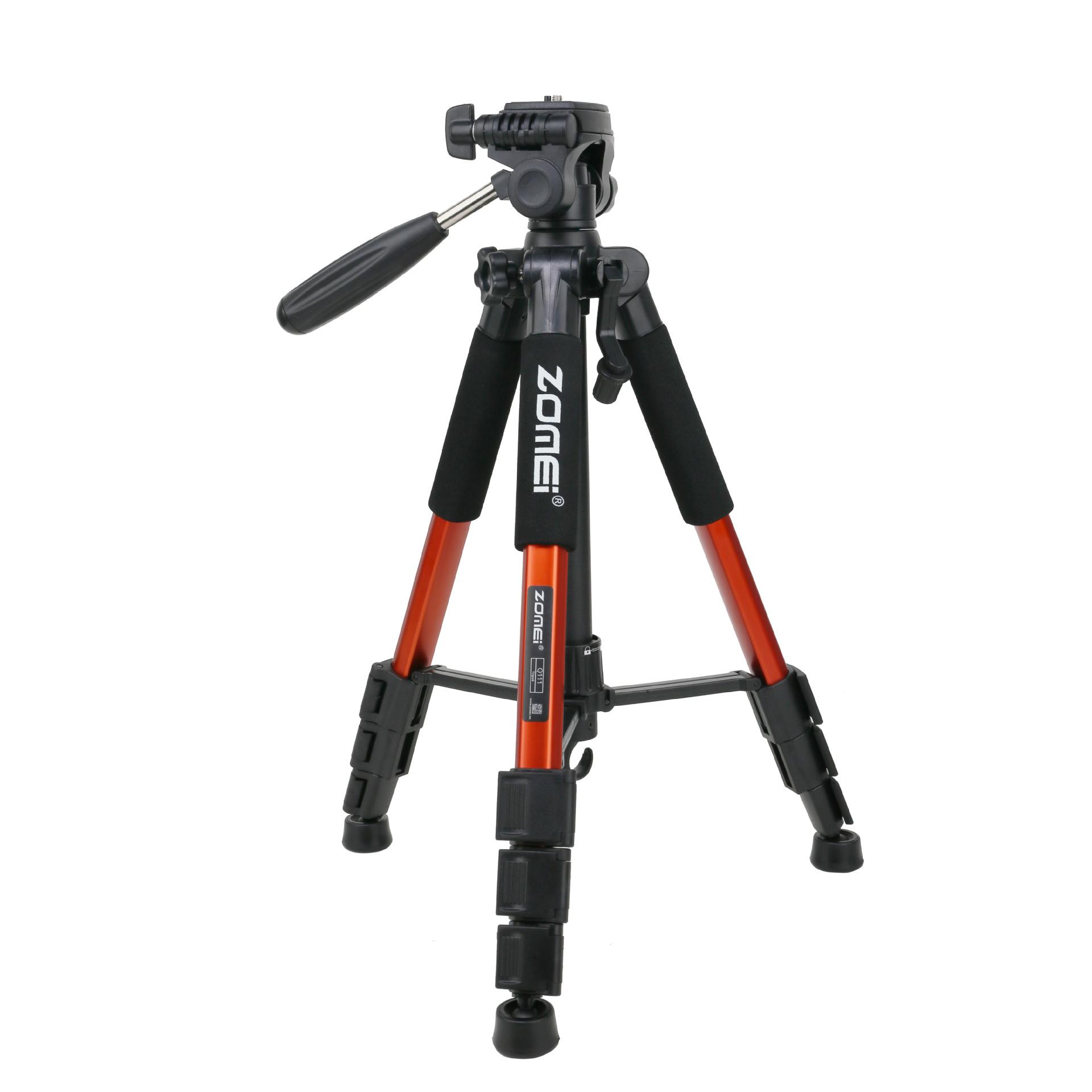 Mobile Phone Bracket Pro Aluminium Q111 Tripod for DSLR Camera Video Fill-in Light Bracket Orange