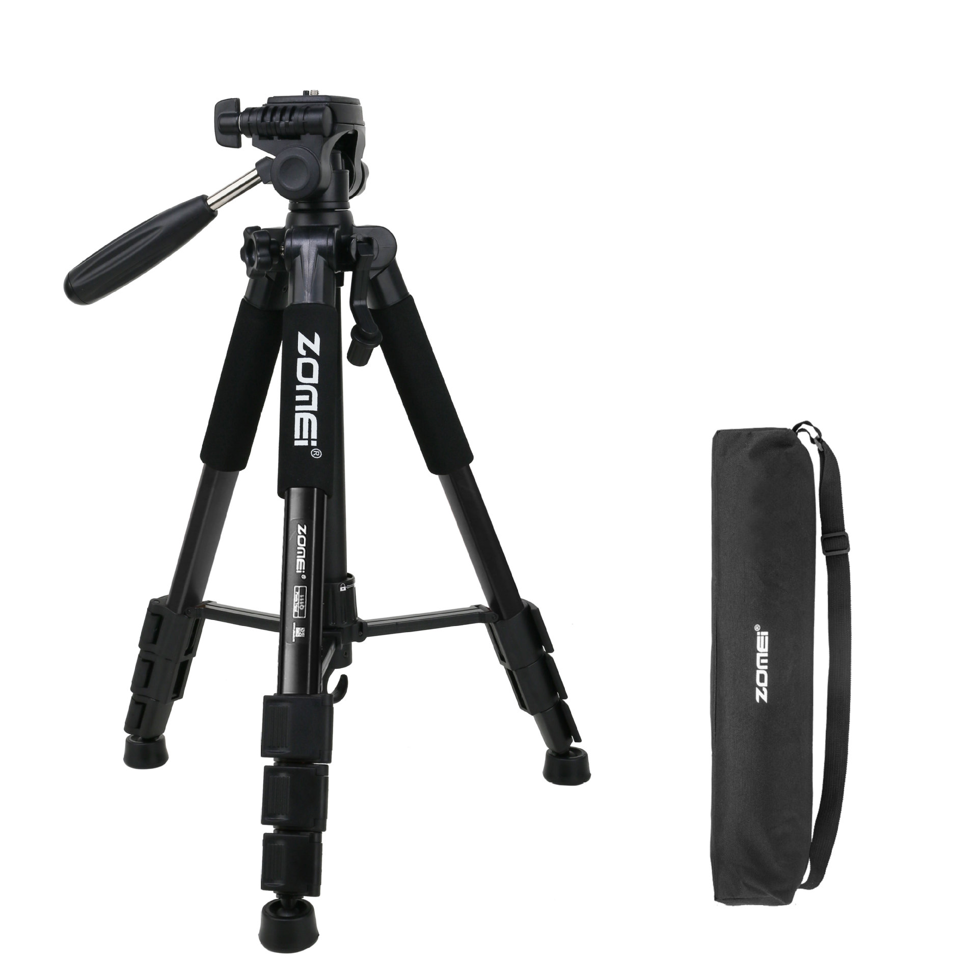 Mobile Phone Bracket Pro Aluminium Q111 Tripod for DSLR Camera Video Fill-in Light Bracket black