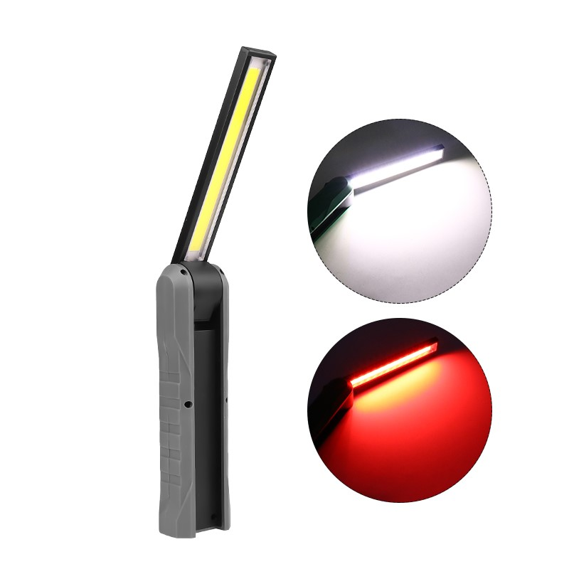 COB LED Portable USB Rechargeable Magnetic Worklight gray_Model 1901