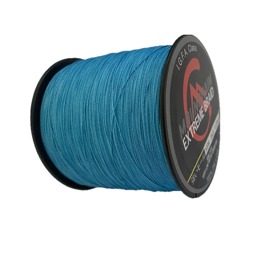 Braided 4 Stands Strong Multifilament 1000m Mounchain Fishing Line blue_0.10mm-10BL