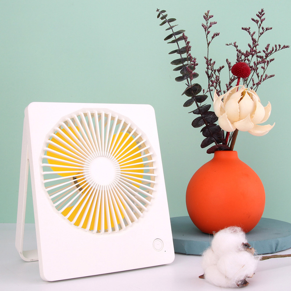 3 Speed Mini Fan Portable USB Desktop Cooling Fan with 180 Degree Adjustable for Office Household Traveling white_14.3 * 3.2 * 17.4cm