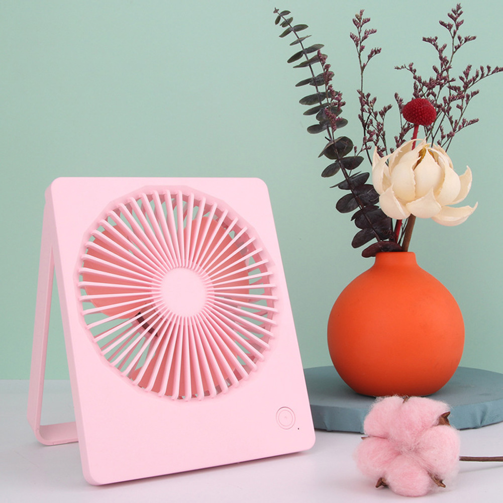 3 Speed Mini Fan Portable USB Desktop Cooling Fan with 180 Degree Adjustable for Office Household Traveling Pink_14.3 * 3.2 * 17.4cm