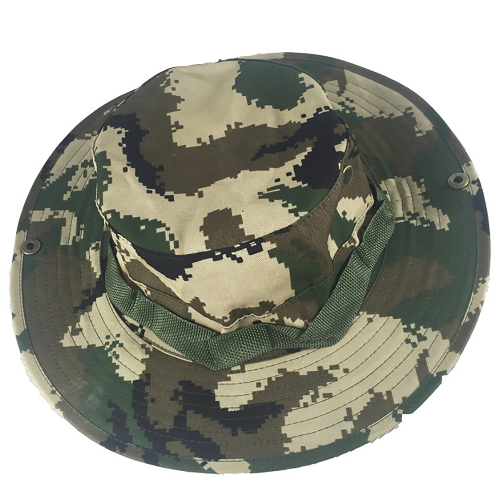 Camouflage Bucket Hats Fisherman Hat With Wide Brim Sun Fishing Bucket Hat Camping Caps 4