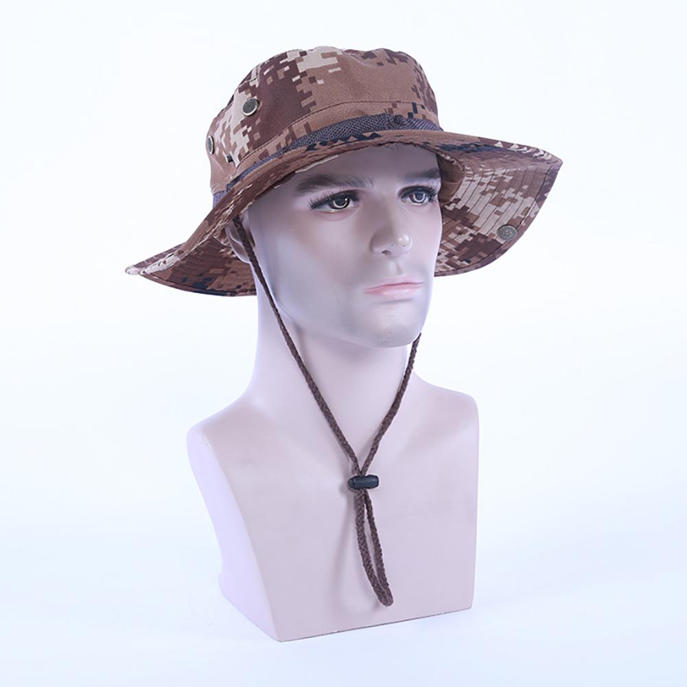 Camouflage Bucket Hats Fisherman Hat With Wide Brim Sun Fishing Bucket Hat Camping Caps desert