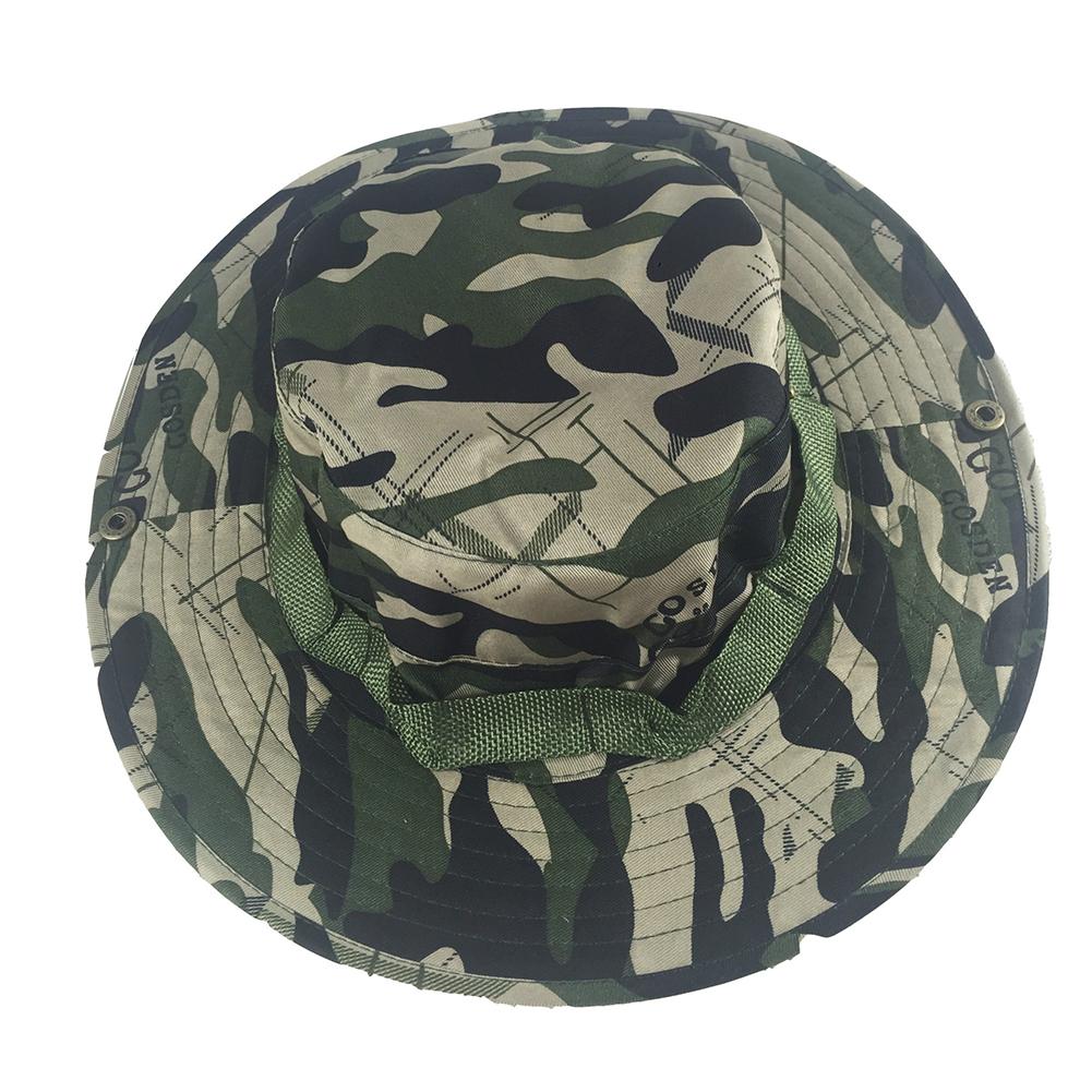 Camouflage Bucket Hats Fisherman Hat With Wide Brim Sun Fishing Bucket Hat Camping Caps Scissors flower