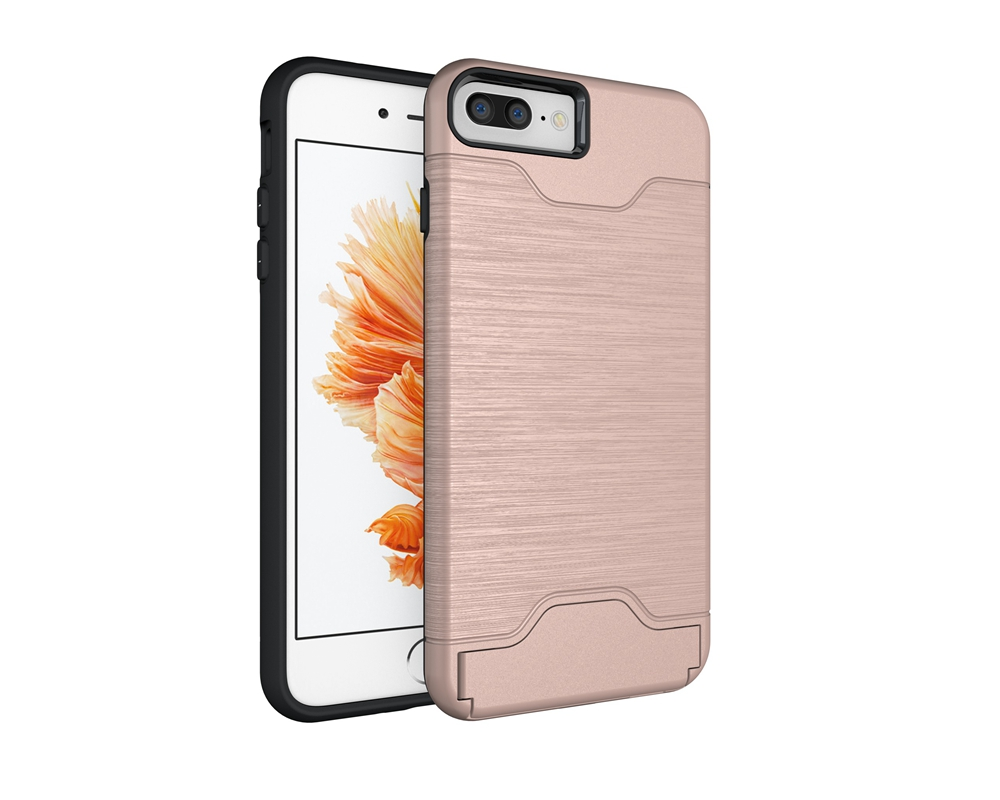 iPhone7 Plus Case,Smooth Brushed Metal Design Back Case Cover For iPhone7 Plus Black