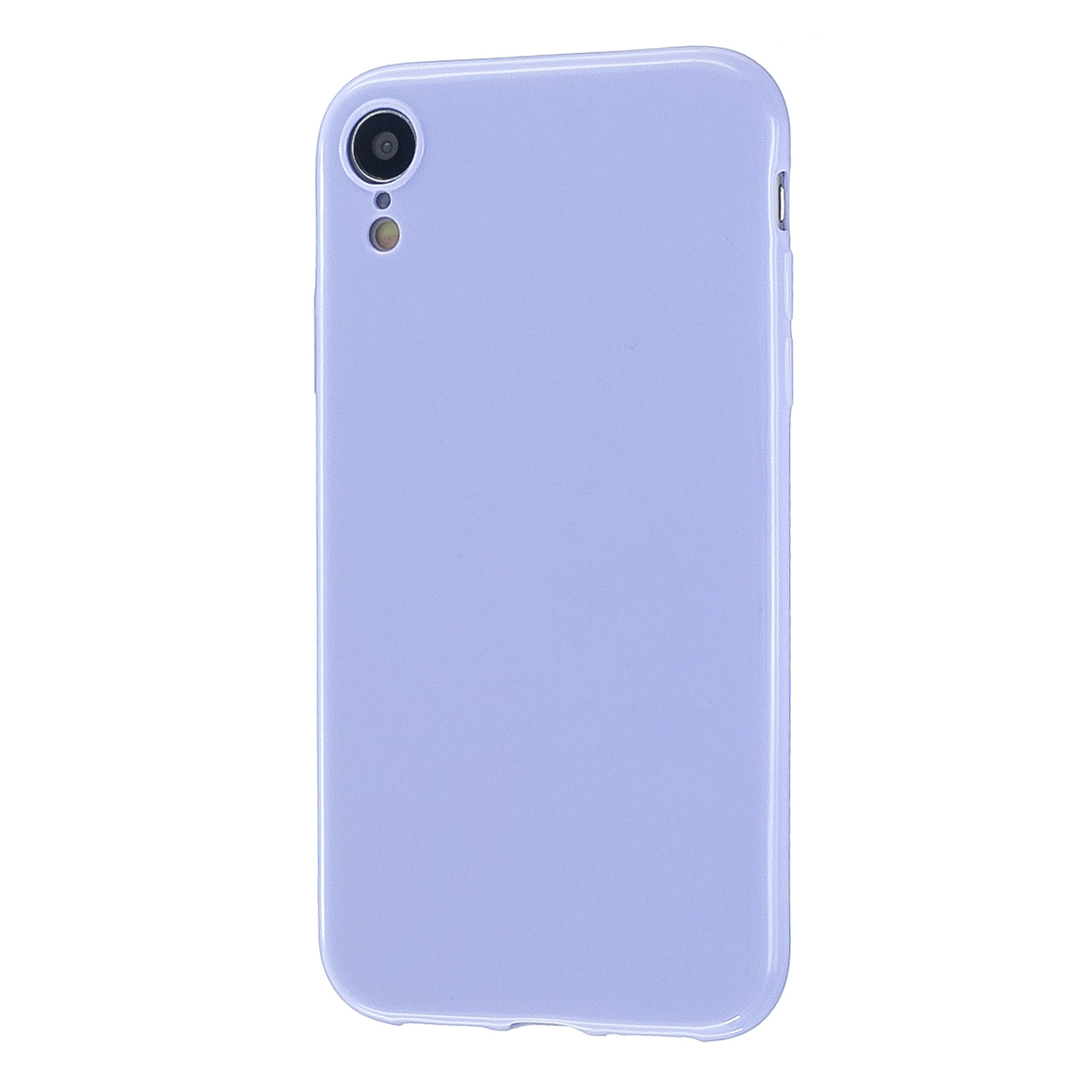 For iPhone X/XS/XS Max/XR  Cellphone Cover Slim Fit Bumper Protective Case Glossy TPU Mobile Phone Shell Taro purple