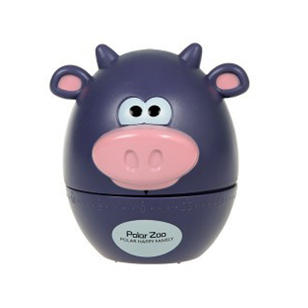 Kitchen Timer Cute Animal Model Kitchen Timer Mechanical Alarm Clock Without Battery Reminders Timer Purple cow