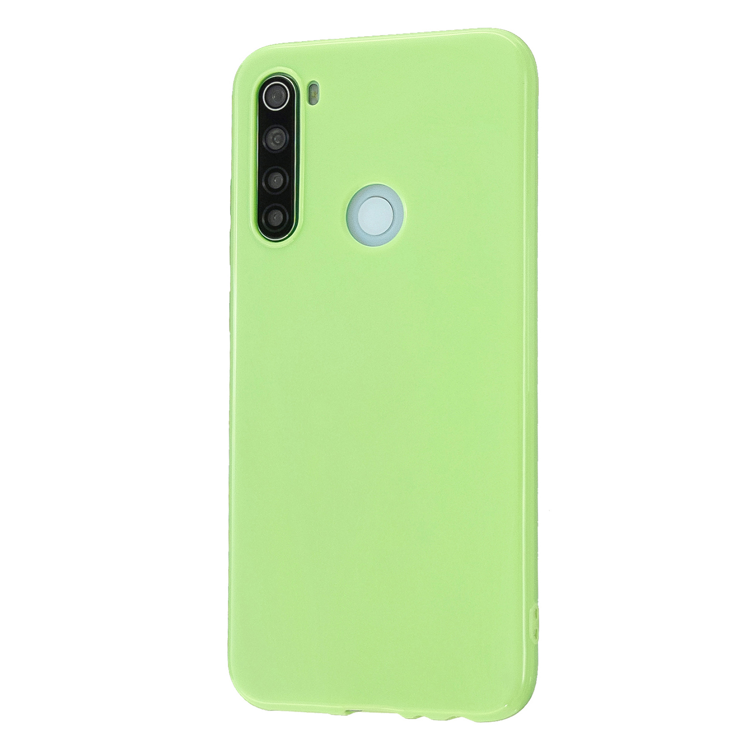 For Redmi Note 8/8 Pro Cellphone Cover Reinforced Soft TPU Phone Case Anti-scratch Full Body Protection Fluorescent green