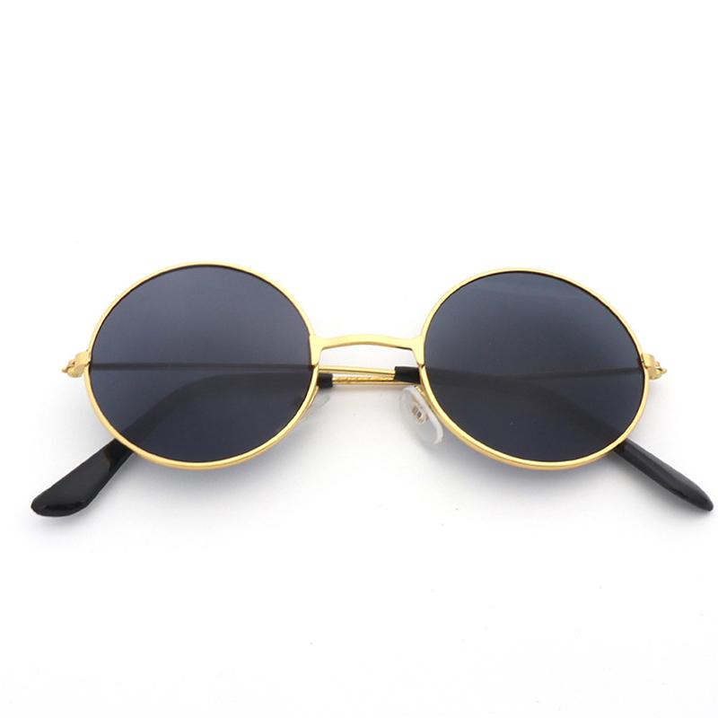 Retro Round Sunglasses Best Man Wedding Show Performance Sunglasses